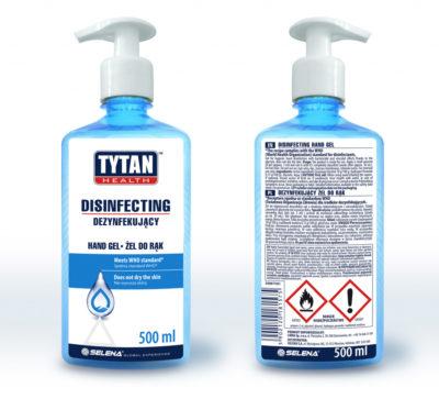 Żel antybakteryjny do rąk w płynie: Tytan Health 500ml