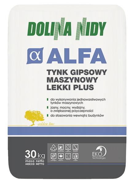 ALFA DOLINA NIDY – tynk gipsowy maszynowy lekki plus